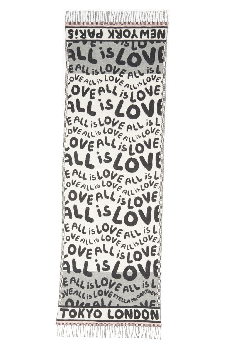 STELLA MCCARTNEY All Is Love Wool & Cashmere Scarf, Main, color, 020