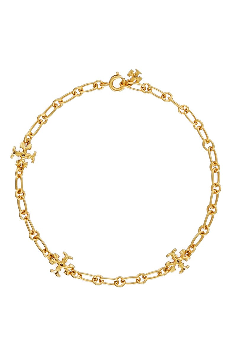 TORY BURCH Roxanne Chain Bracelet, Main, color, ROLLED BRASS