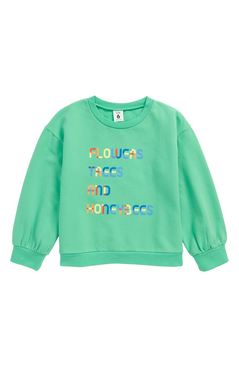 STEM So Much Love Graphic Sweatshirt, Main, color, GREEN CREAM TREES