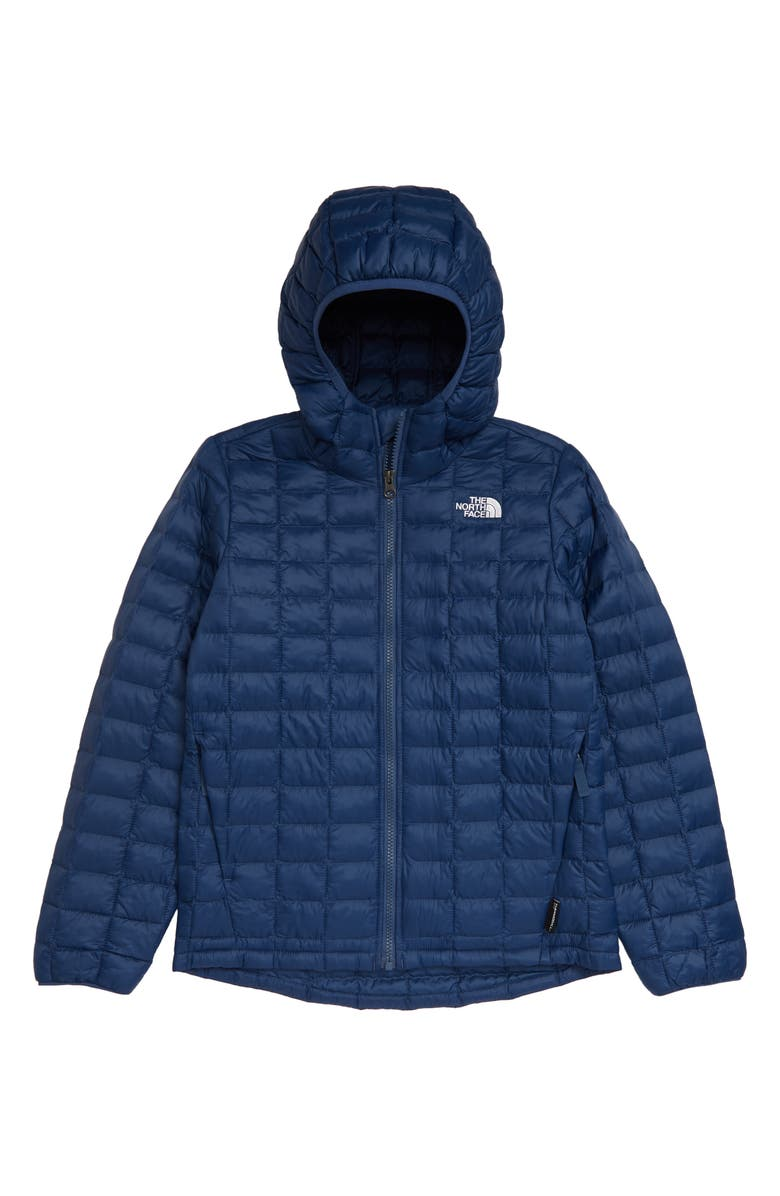 THE NORTH FACE Kids' ThermoBall<sup>™</sup> Eco Hooded Jacket, Main, color, SHADY BLUE