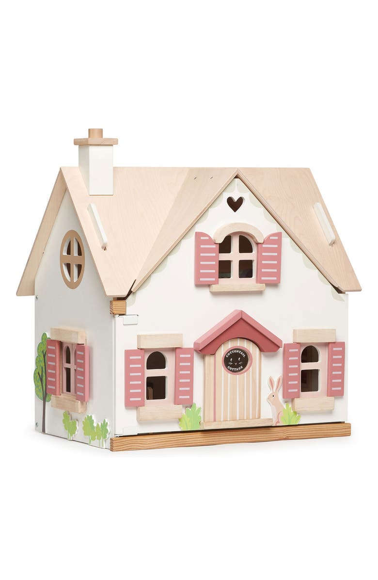 TENDER LEAF TOYS Cottontail Cottage Dollhouse, Main, color, WHITE