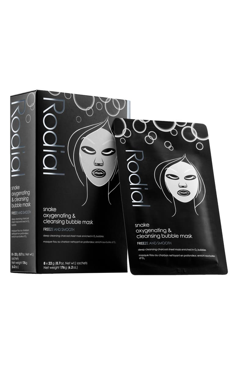 RODIAL Snake Oxygenating & Cleansing Bubble Sheet Mask, Main, color, NO COLOR