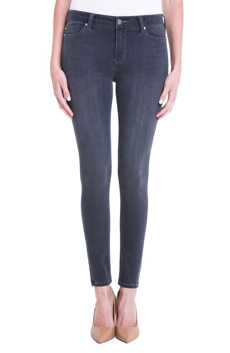 LIVERPOOL Jeans Company Abby Stretch Skinny Jeans, Main, color, METEORITE