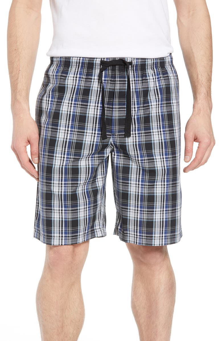 NORDSTROM MEN'S SHOP Poplin Lounge Shorts, Main, color, 002