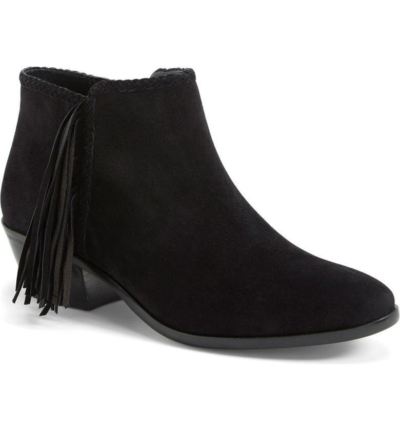 SAM EDELMAN 'Paige' Fringed Ankle Bootie, Main, color, 004