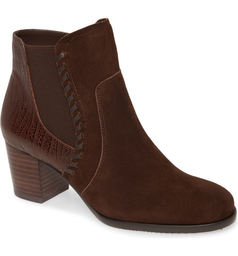 DAVID TATE Odyssey Bootie - Multiple Widths Available, Main, color, BROWN SUEDE