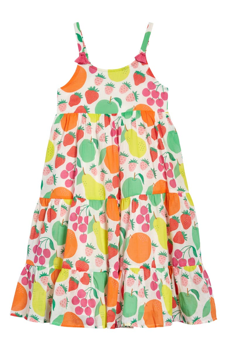 MINI BODEN Kids' Tiered Tassel Sundress, Main, color, MULTI TUTTI FRUITTI
