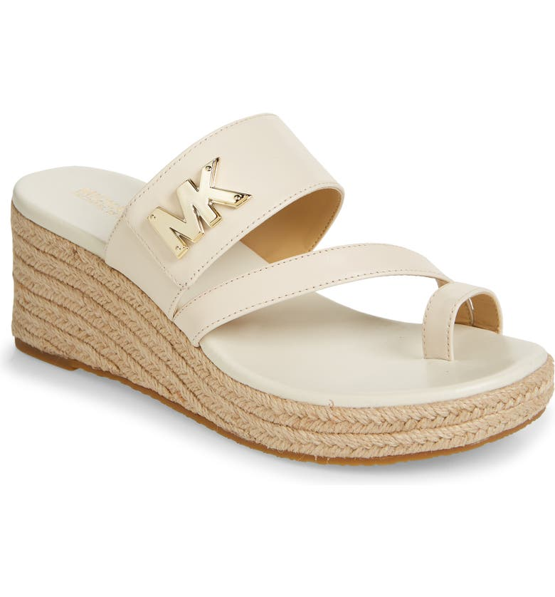 MICHAEL MICHAEL KORS Sidney Wedge Slide Sandal, Main, color, LIGHT CREAM