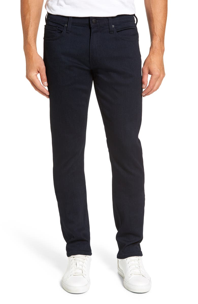 PAIGE Transcend Federal Slim Straight Leg Jeans, Main, color, INKWELL