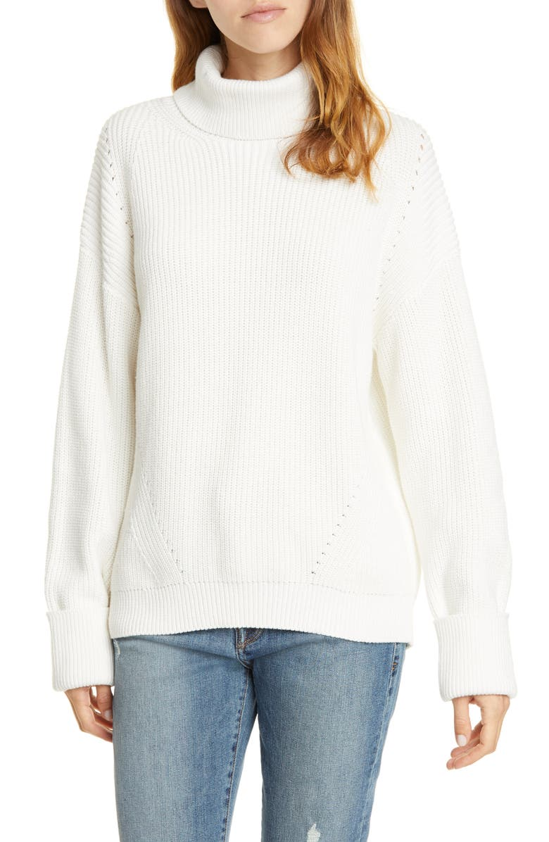 JOIE Aleck Turtleneck Sweater, Main, color, AGED WHITE