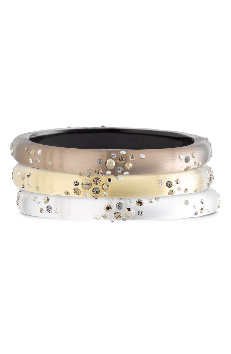 ALEXIS BITTAR 'Smoky Dust' Small Hinged Bracelet, Main, color, 040