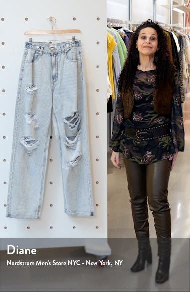 Zgy Denim Hi And Loose Distressed Jeans, sales video thumbnail
