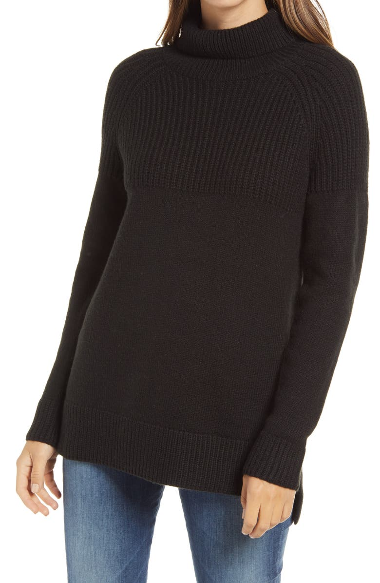CASLON<SUP>®</SUP> Tunic Sweater, Main, color, 001