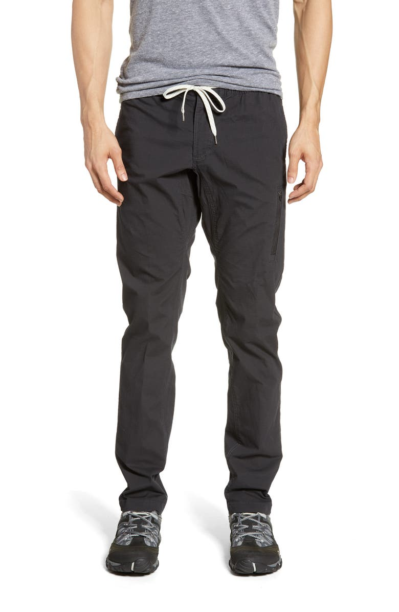 VUORI Slim Fit Pocket Ripstop Climber Pants, Main, color, CHARCOAL