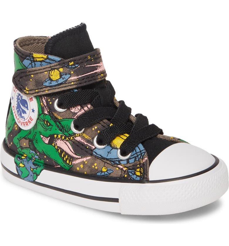 CONVERSE Chuck Taylor<sup>®</sup> All Star<sup>®</sup> 1V Intergalactic Dinosaurs High Top Sneaker, Main, color, 264