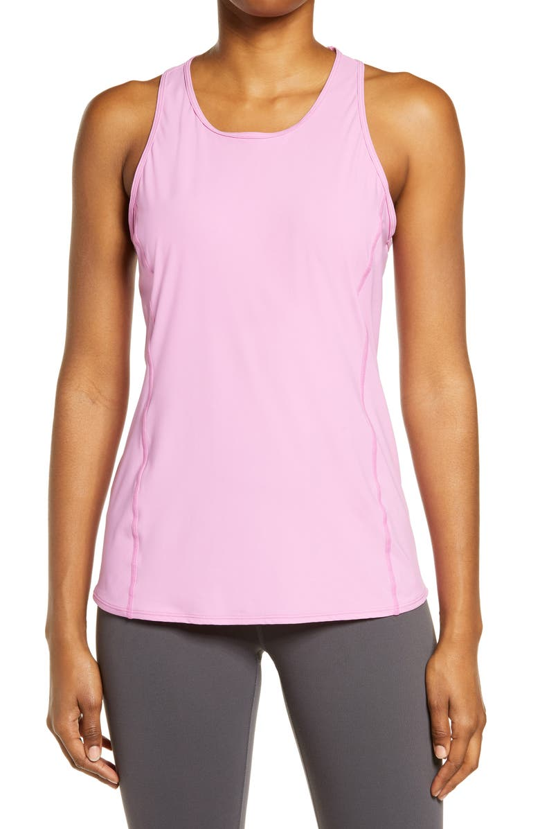 ZELLA Nova Perforated Racerback Tank, Main, color, PURPLE OPERA