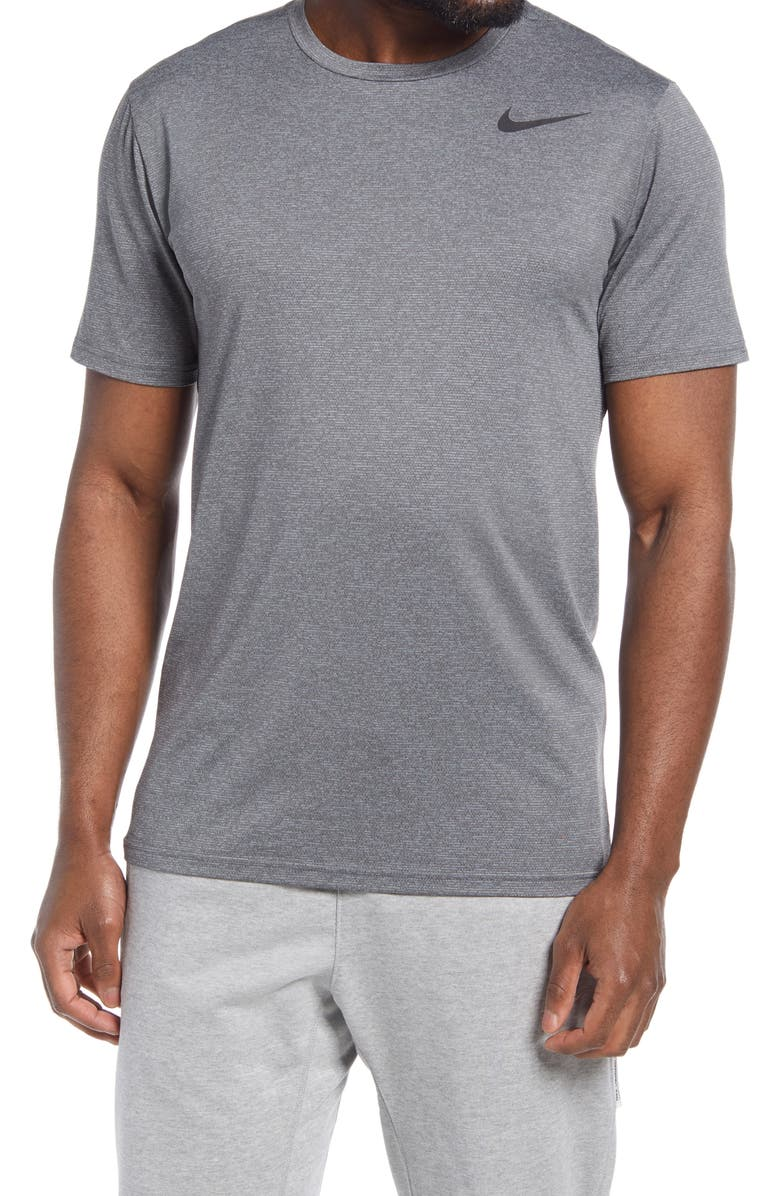 NIKE Dri-FIT Static Training T-Shirt, Main, color, IRON GREY/ GREY/ BLACK