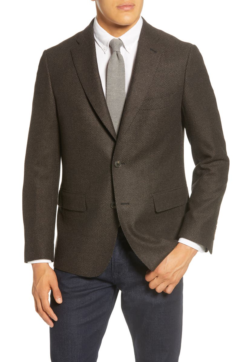 JOHN W. NORDSTROM<SUP>®</SUP> Traditional Fit Wool & Cashmere Sport Coat, Main, color, 021