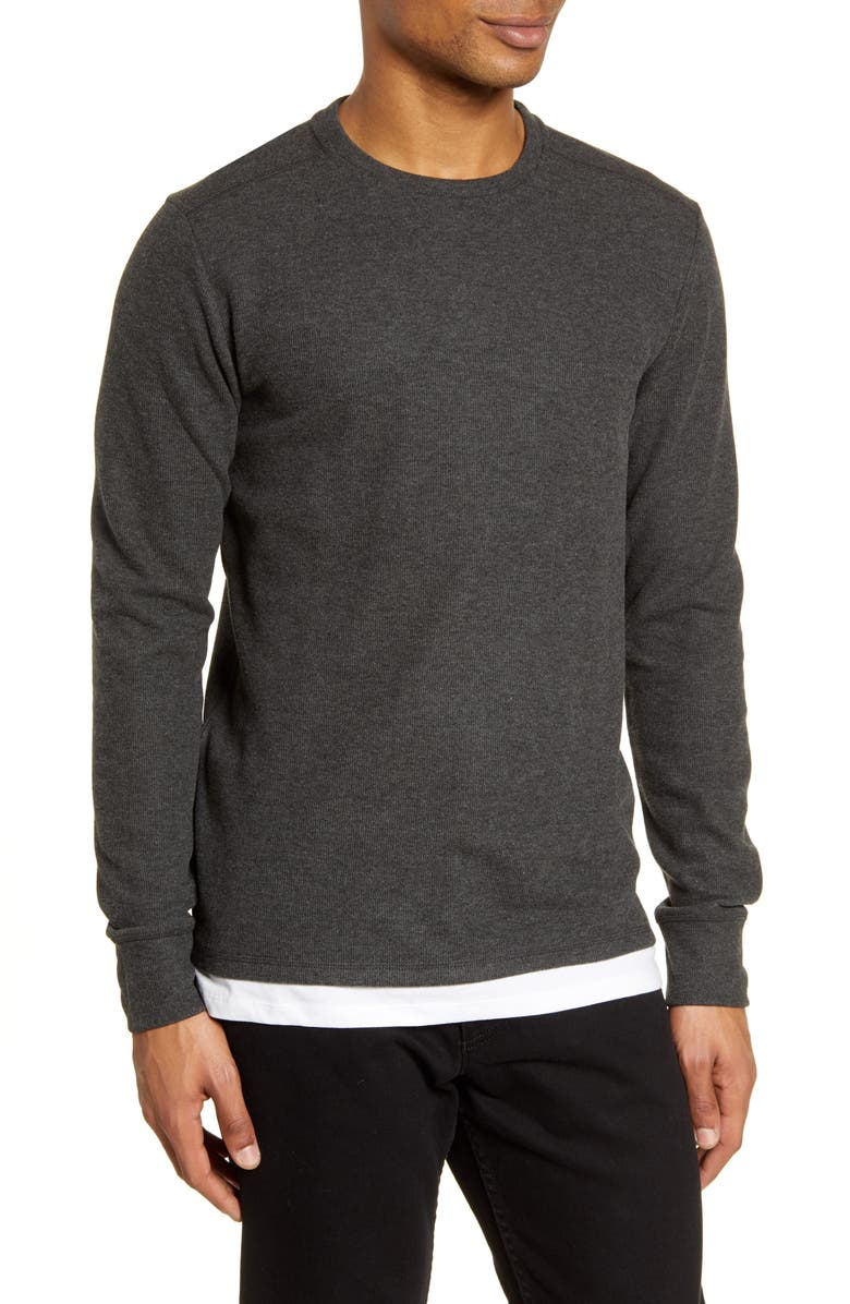 ALLSAINTS Luge Solid Long Sleeve T-Shirt, Main, color, CHARCOAL MARL