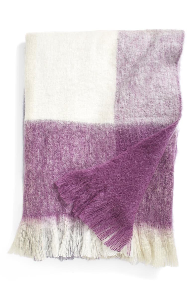 NORDSTROM at Home 'Brushed Plaid' Throw, Main, color, 020