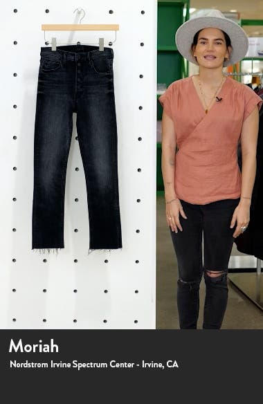 The Pixie Dazzler Fray Hem Ankle Jeans, sales video thumbnail
