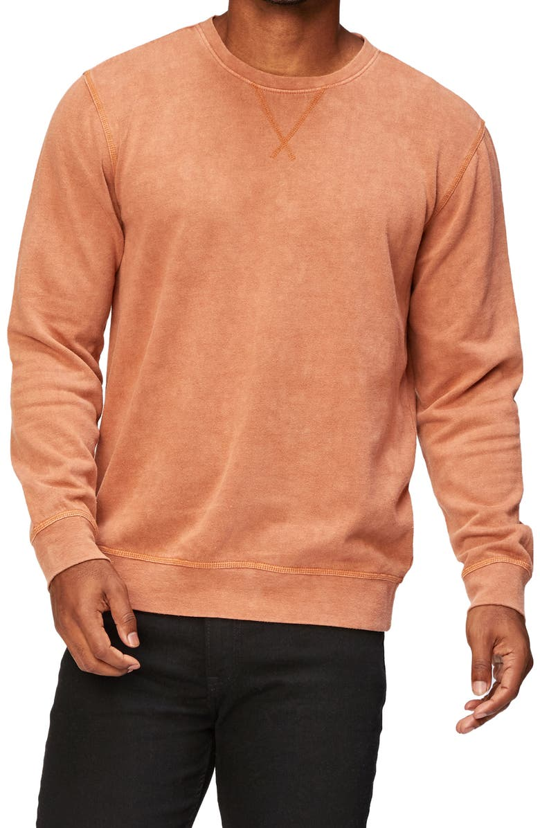 THREADS 4 THOUGHT Mineral Wash Fleece Sweatshirt, Main, color, BRIAR ROSE