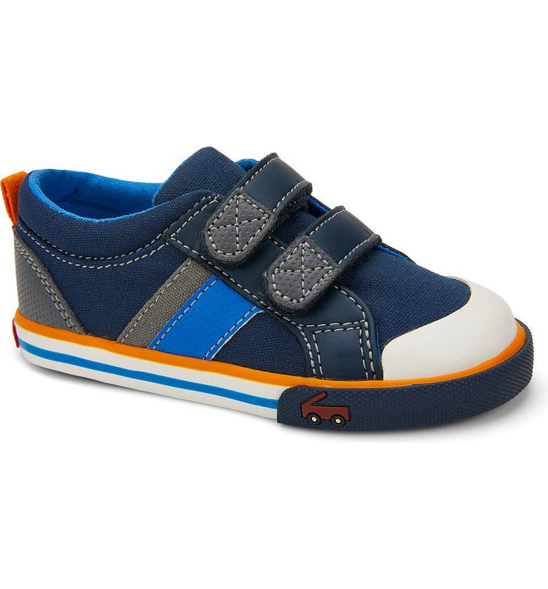 SEE KAI RUN Russell Sneaker, Main, color, NAVY/ GRAY