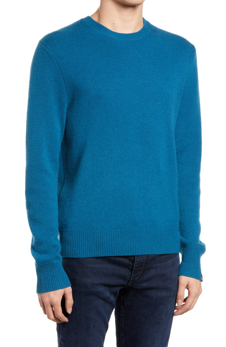 RAG & BONE Haldon Cashmere Sweater, Main, color, PEACOCK