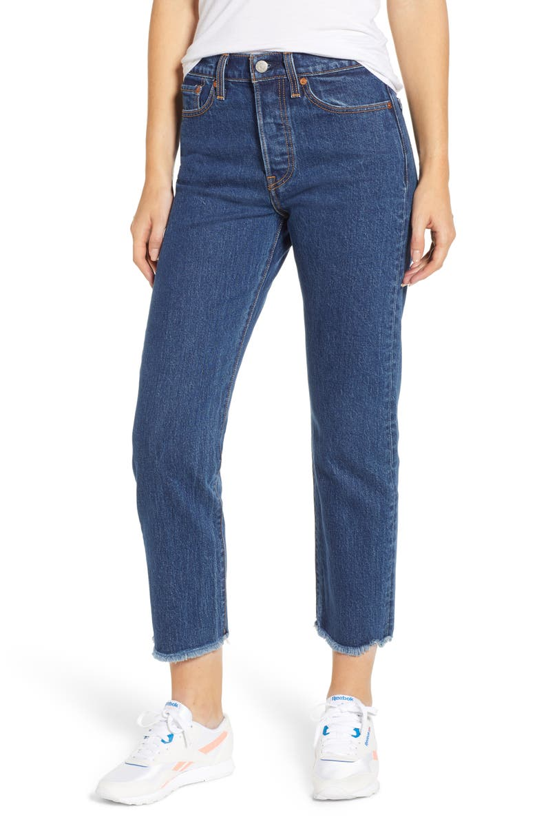 LEVI'S<SUP>®</SUP> Wedgie High Waist Ankle Straight Leg Jeans, Main, color, 420