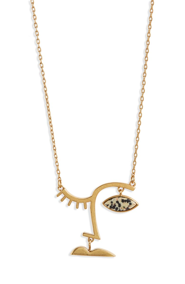 MADEWELL Face Value Pendant Necklace, Main, color, 710