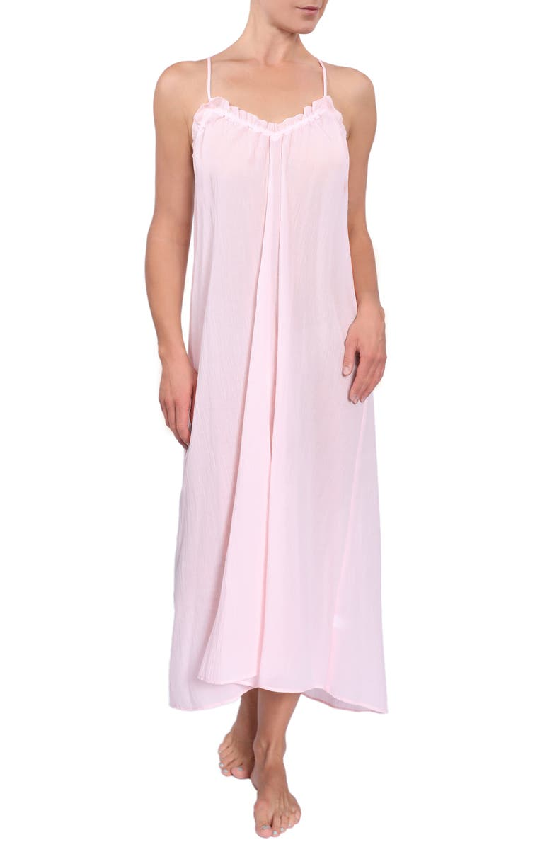 EVERYDAY RITUAL Ruffle Nightgown, Main, color, BLUSH PINK