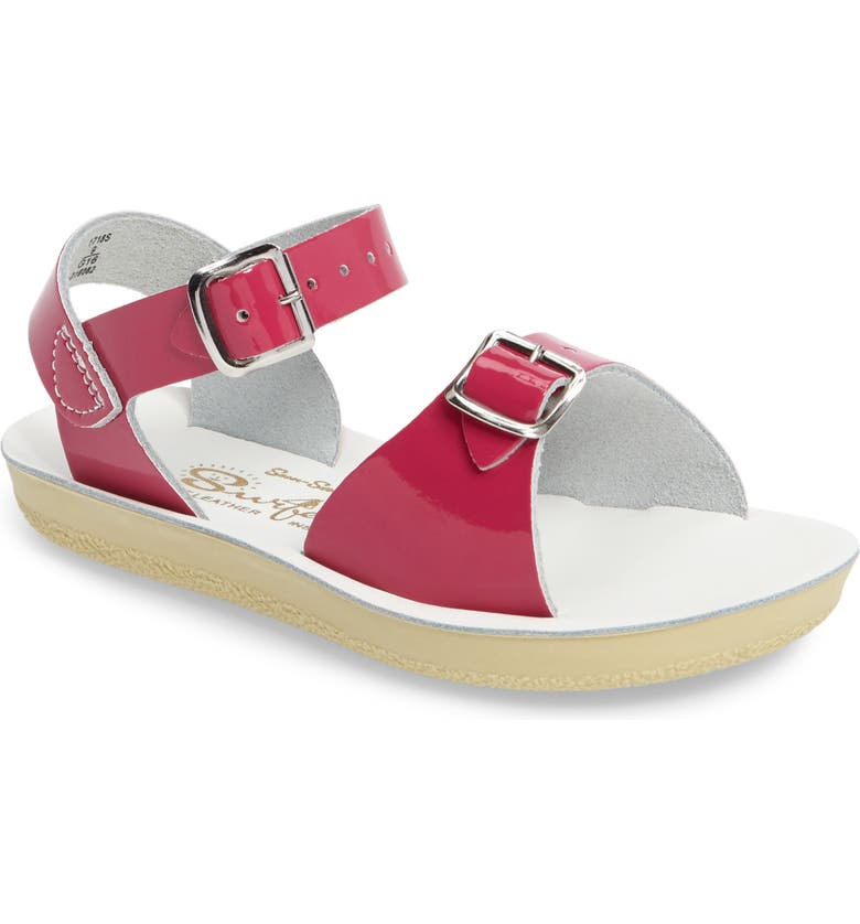 SALT WATER SANDALS BY HOY Surfer Water Friendly Sandal, Main, color, SHINY FUCHSIA