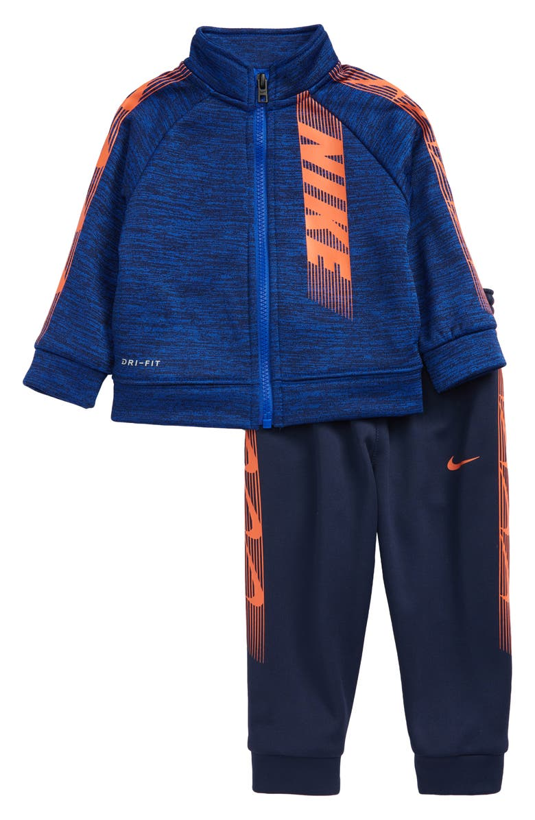 NIKE Kids' Dominate Dri-FIT Zip Jacket & Sweatpants Set, Main, color, 416