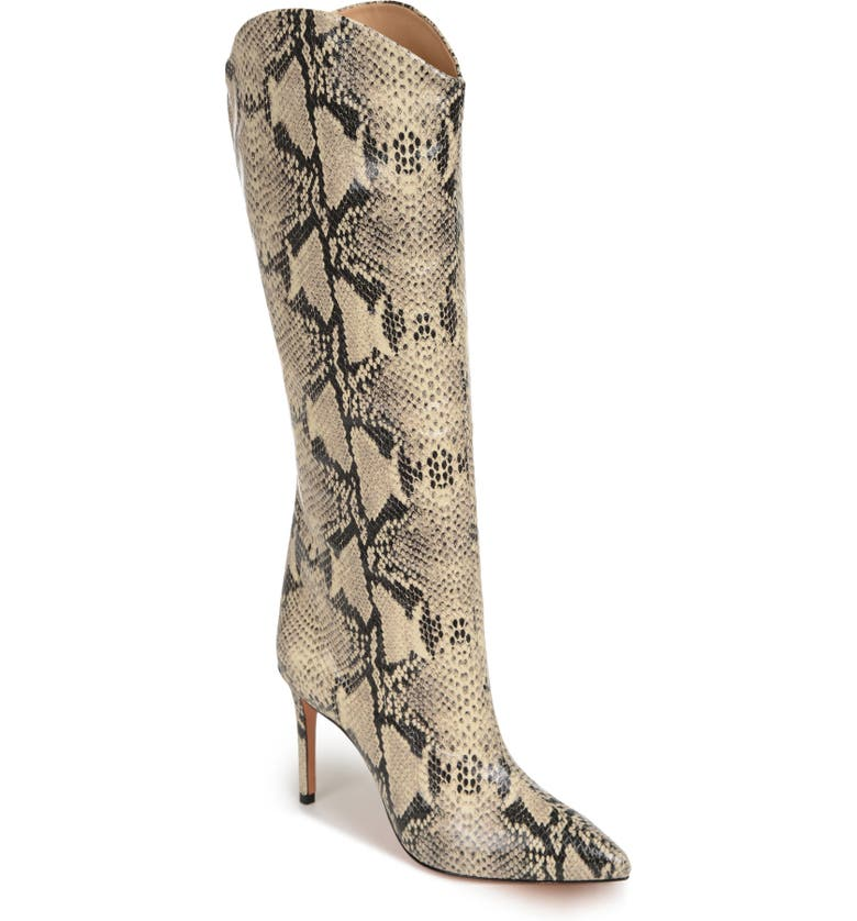 SCHUTZ Maryana Pointed Toe Boot, Main, color, NATURAL LEATHER