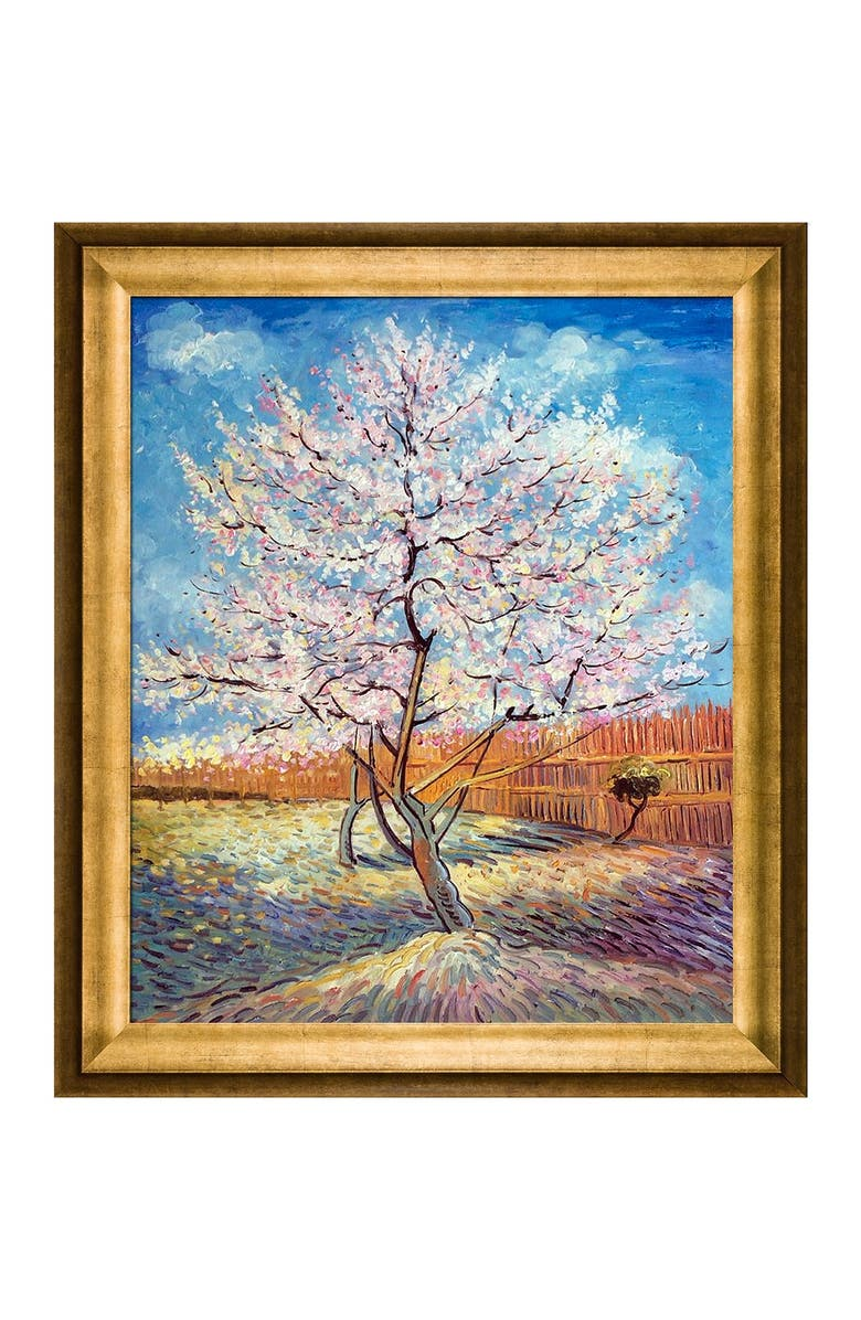 OVERSTOCK ART Pink Peach Tree in Blossom Framed Oil Reproduction of an Original Painting by Vincent Van Gogh, Main, color, MULTI