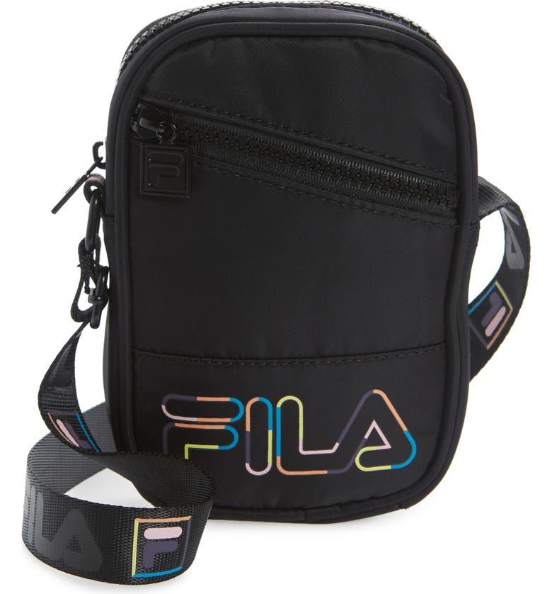 FILA Electric Nylon Camera Bag, Main, color, Black