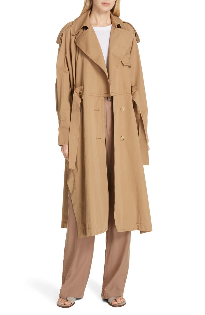 VINCE Long Trench Coat, Main, color, 247