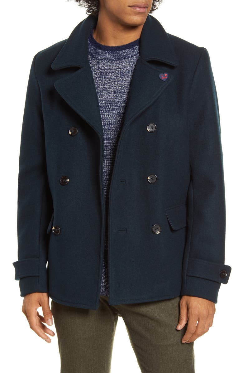 SCOTCH & SODA Caban Double Breasted Jacket, Main, color, 301