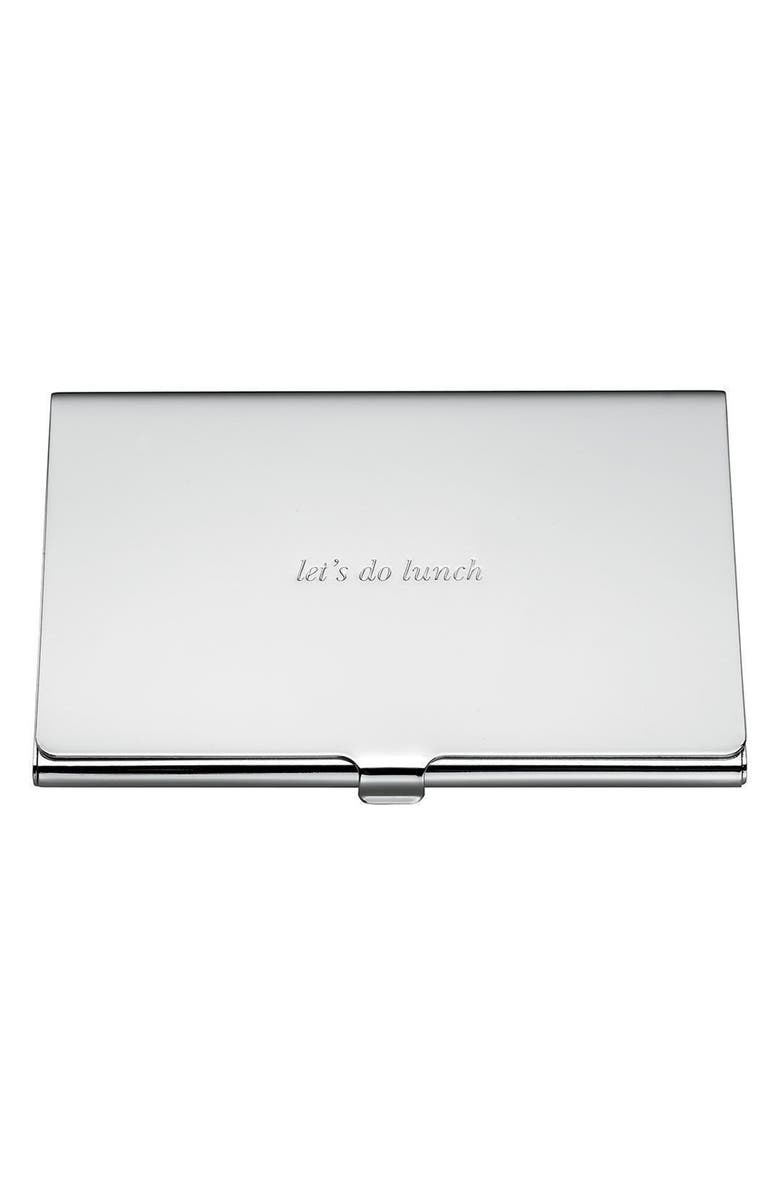 KATE SPADE NEW YORK let's do lunch business card holder, Main, color, 040