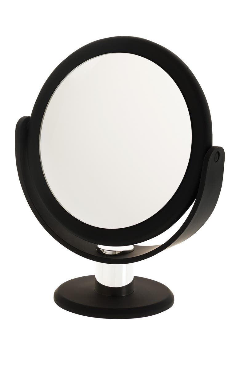 UPPER CANADA SOAPS Danielle Soft Touch Round Vanity Mirror - Black, Main, color, NO COLOR