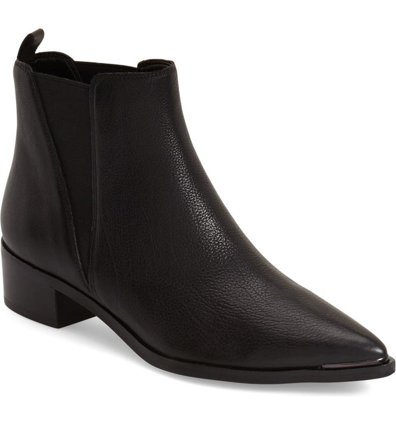 MARC FISHER LTD Yale Chelsea Boot, Main, color, BLACK LEATHER