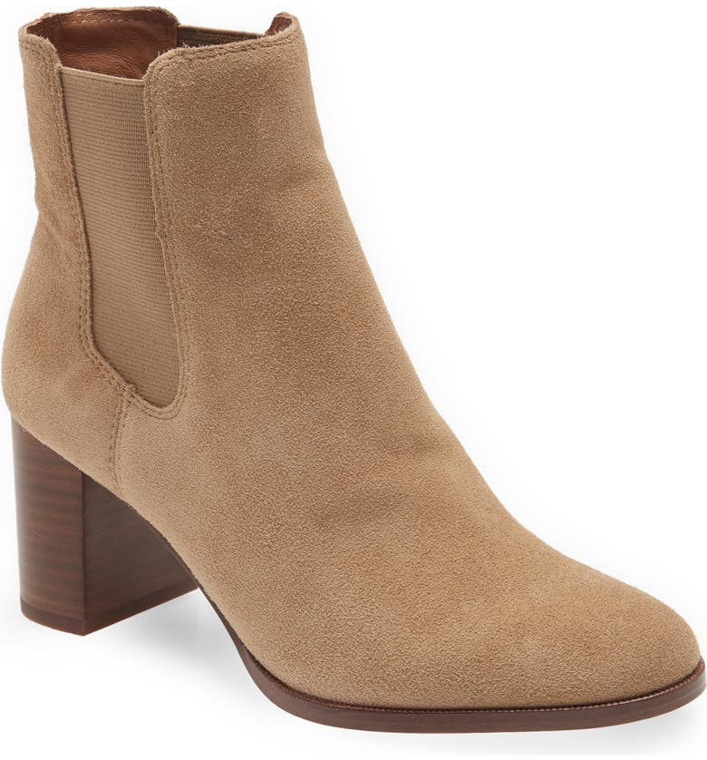 MADEWELL The Laura Chelsea Boot, Main, color, WALNUT SHELL