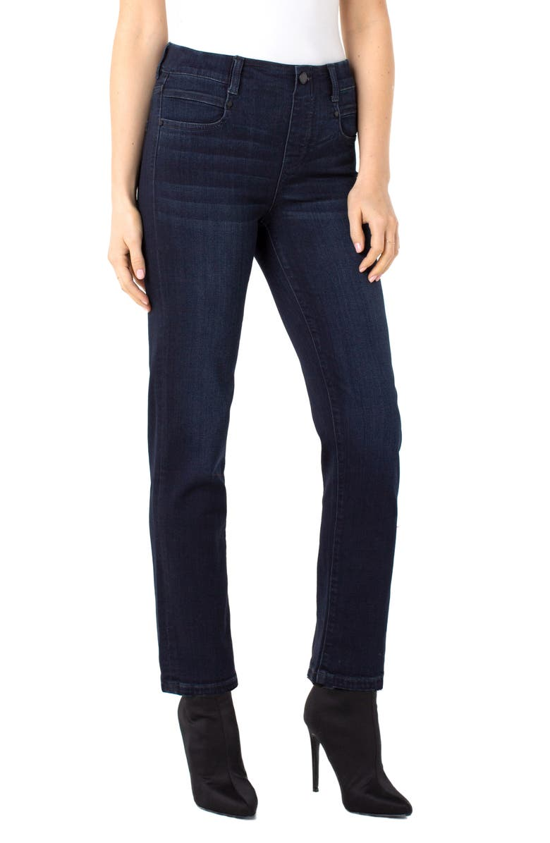 LIVERPOOL Gia Glider Slim Pull-On Jeans, Main, color, 401