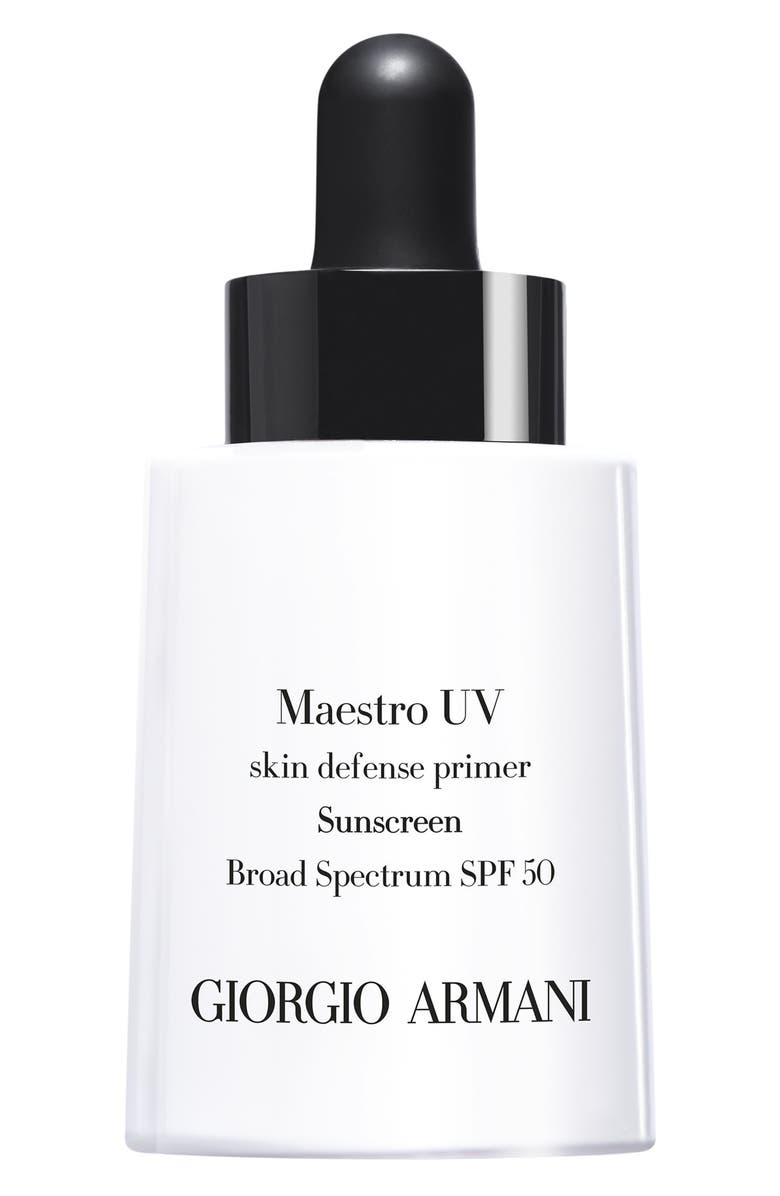 GIORGIO ARMANI Maestro UV Skin Defense Primer Sunscreen SPF 50, Main, color, No Color