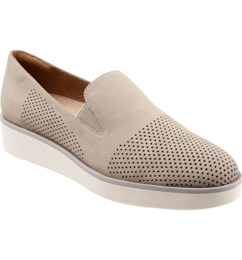 SOFTWALK<SUP>®</SUP> Whistle Slip-On, Main, color, LIGHT GREY LEATHER