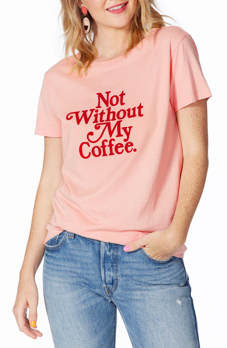 BAN.DO Not Without My Coffee Classic Tee, Main, color, PINK