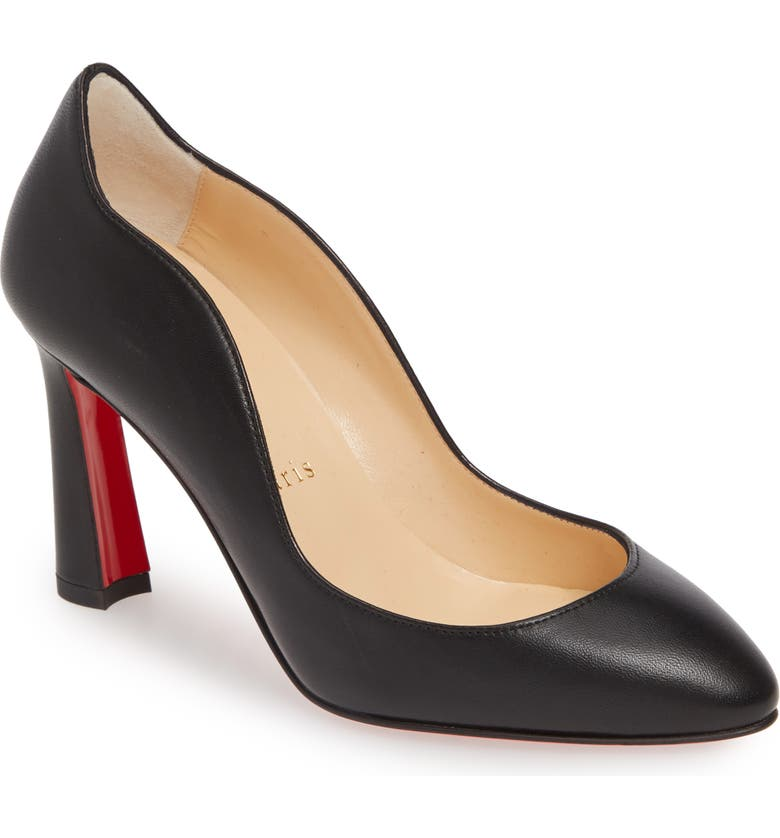CHRISTIAN LOUBOUTIN Agneska Wave Pump, Main, color, BLACK