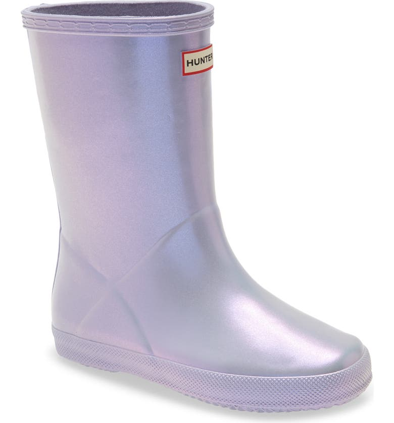 HUNTER First Classic Nebula Waterproof Rain Boot, Main, color, PULPIT PURPLE
