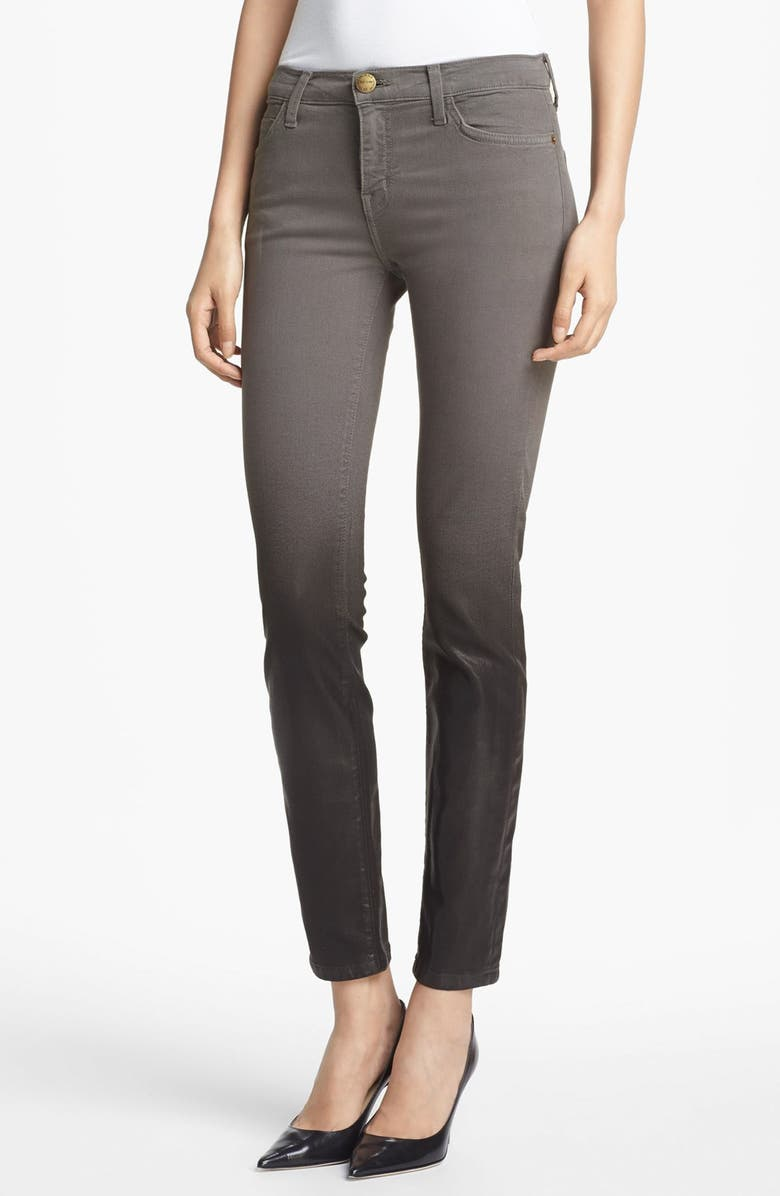 CURRENT/ELLIOTT 'The Stiletto' Coated Stretch Jeans, Main, color, OMBRE COATED DARK CASTLE