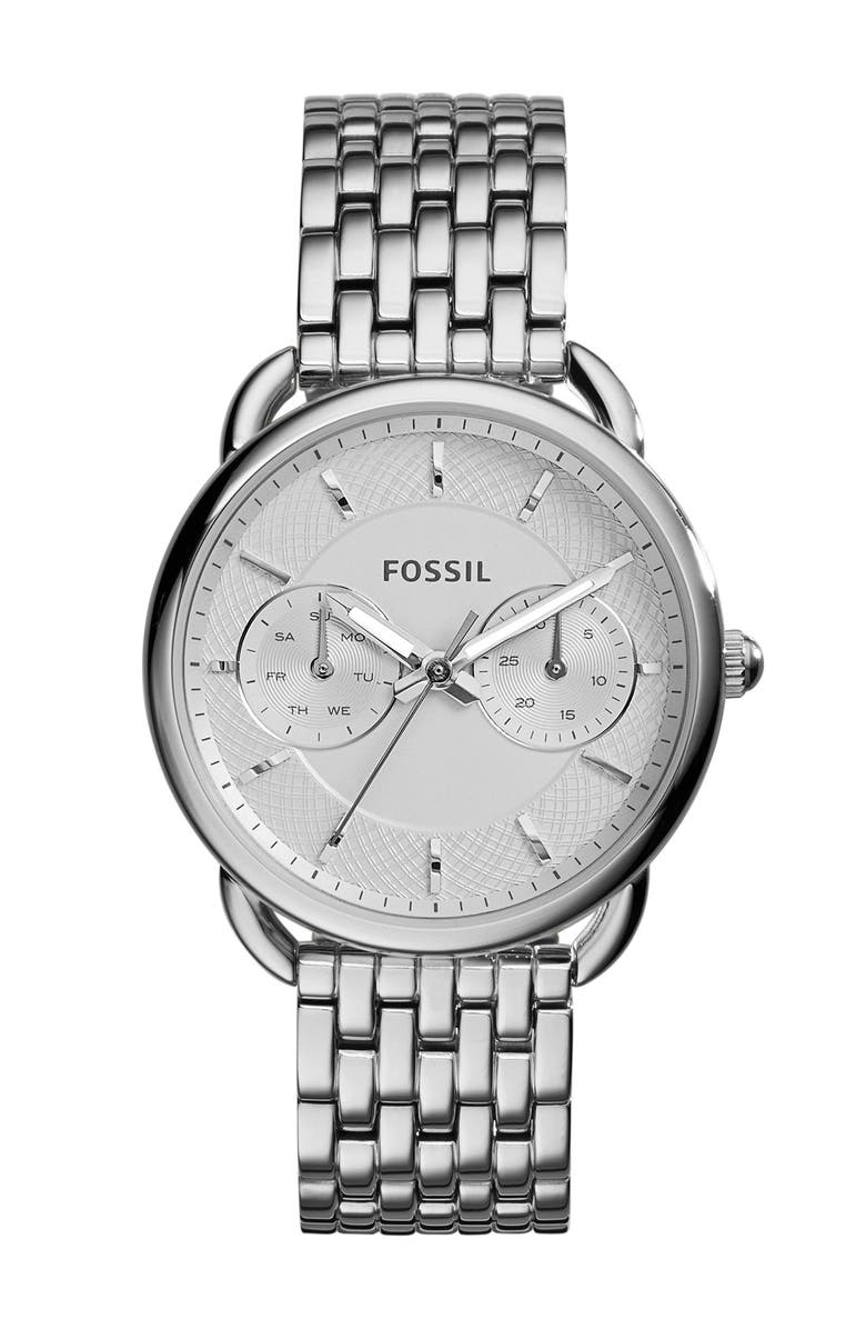 FOSSIL 'Tailor' Multifunction Bracelet Watch, 16mm, Main, color, 040
